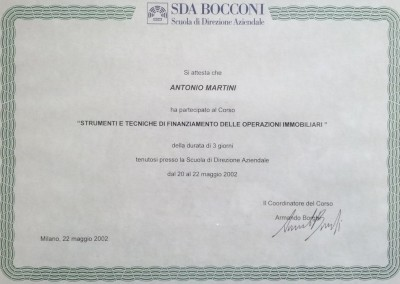 Consulenza_Bocconi_Finanziamento Operazioni Immobiliari_Geometra Padova