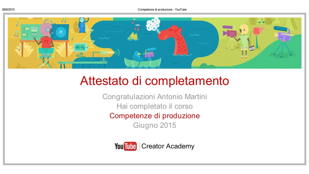 Competenza YouTube