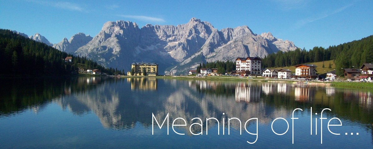 Misurina_meaning of life